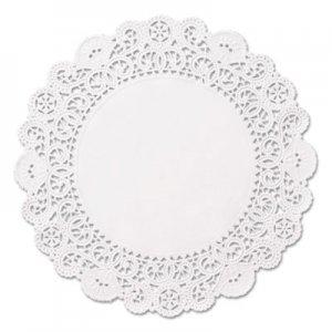 "Hoffmaster Brooklace Lace Doilies, Round, 5"", White, 2000/Carton HFMLA9052M LA905-2M"