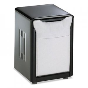 San Jamar Tabletop Napkin Dispenser, Low Fold, 3 3/4 x 4 x 5 1/2, Capacity: 150, Black SJMH985BK