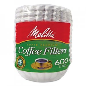 Melitta Coffee Filters, Paper, Basket Style, 8 to 12 Cups, 7200/Carton MLA631132 631132