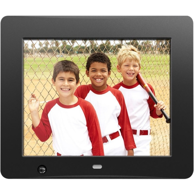 Aluratek 8 inch Digital Photo Frame with Motion Sensor and 4GB Built-in Memory ADMSF108F