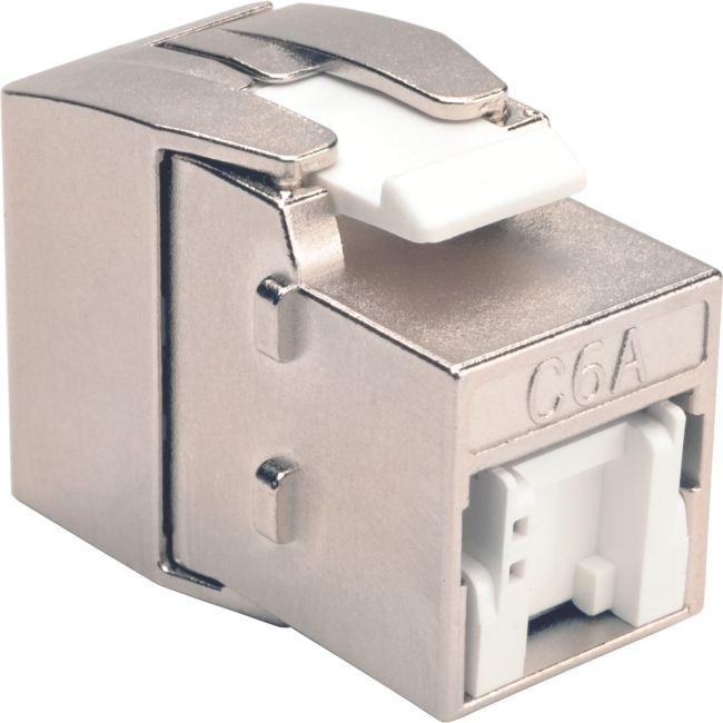 Tripp Lite Toolless Cat6a Keystone Jack - Gray N238-001-GY-TFA
