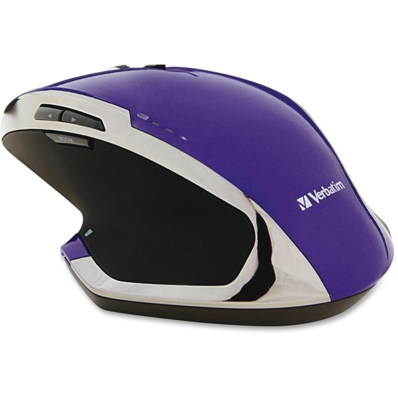 Verbatim Wireless Desktop 8-Button Deluxe Blue LED Mouse - Purple 99020