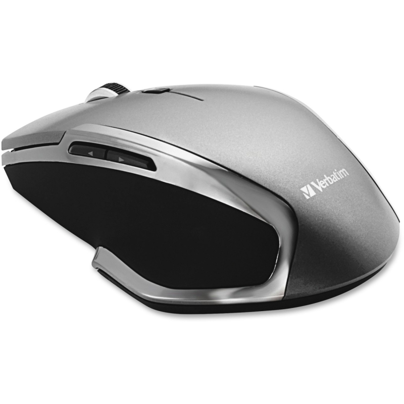 Verbatim Wireless Notebook 6-Button Deluxe Blue LED Mouse - Graphite 98621