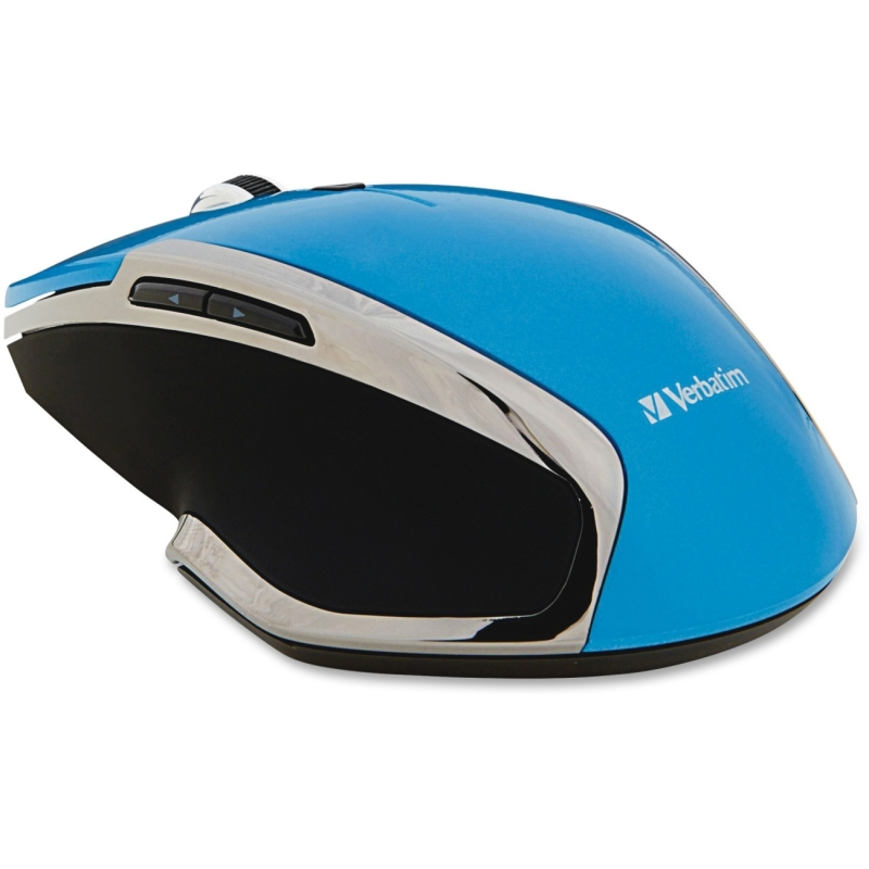 Verbatim Wireless Notebook 6-Button Deluxe Blue LED Mouse - Blue 99016