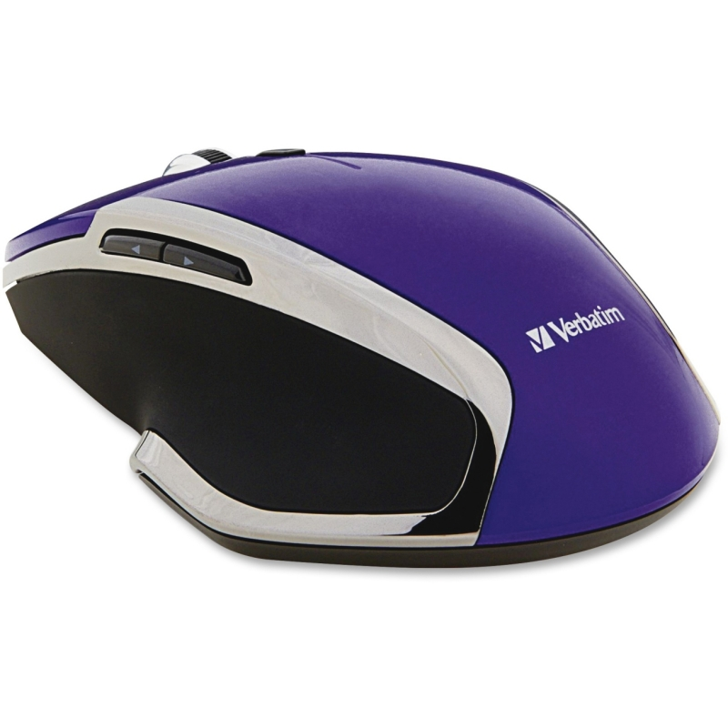 Verbatim Wireless Notebook 6-Button Deluxe Blue LED Mouse - Purple 99017