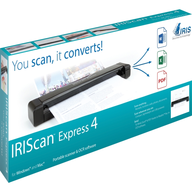 I.R.I.S. IRIScan Portable USB Simplex Color Scanner 458510 Express 4