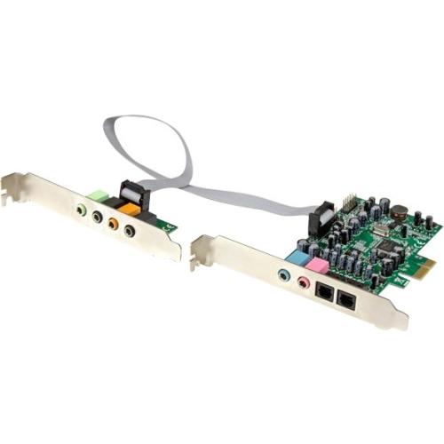 StarTech.com 7.1 Channel Sound Card - PCI Express - 24-bit - 192KHz PEXSOUND7CH