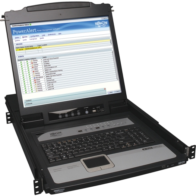 Tripp Lite NetDirector 16-Port 1U Rack-Mount Console IP KVM Switch w/19 in. LCD B020-U16-19-IP