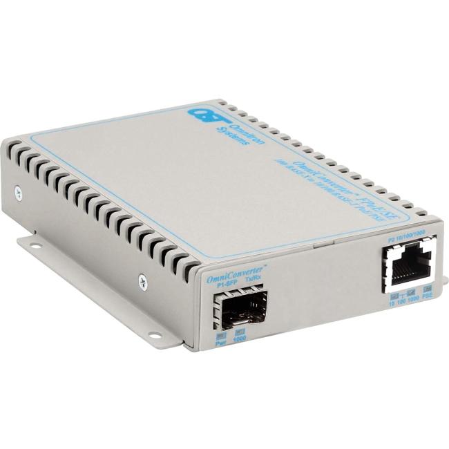 Omnitron OmniConverter FPoE/SE PoE SFP US AC Powered 9379-0-11 9379-0-x