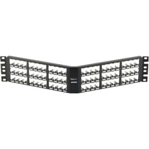 Multimedia Patch Panel 48-Port 2U Black Box JPMT1048A Pack of 2 pcs