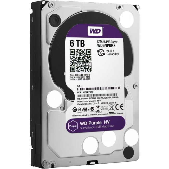 Western Digital Purple NV Surveillance Storage WD6NPURX