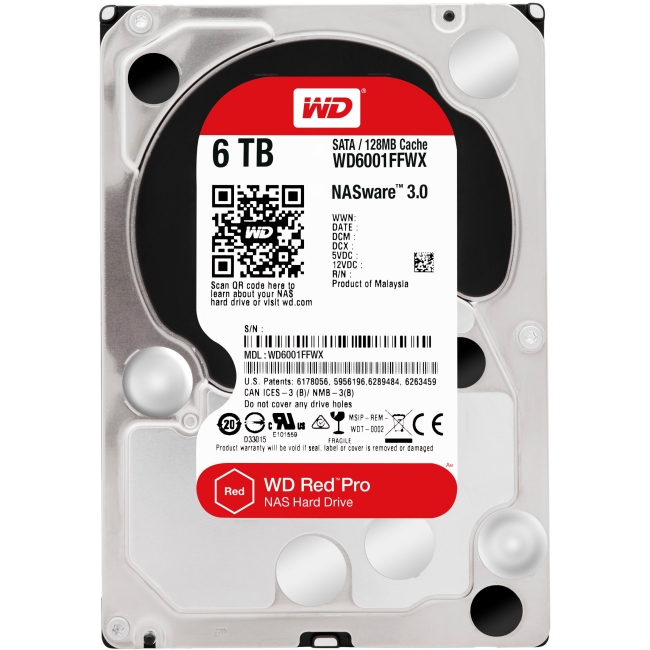 Western Digital Red Pro 6 TB High-Capacity NAS Storage WD6001FFWX