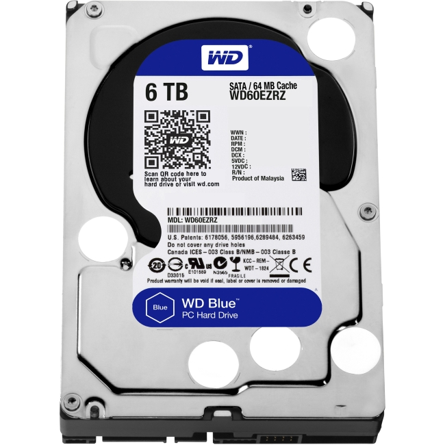 Western Digital Blue 6 TB 3.5-inch PC Hard Drive WD60EZRZ