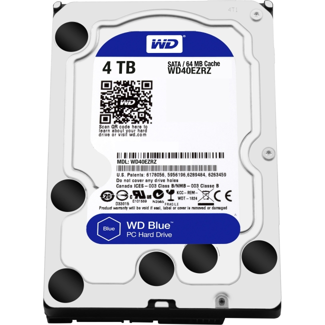 Western Digital Blue 4 TB 3.5-inch PC Hard Drive WD40EZRZ