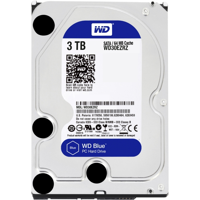 Western Digital Blue 3 TB 3.5-inch PC Hard Drive WD30EZRZ