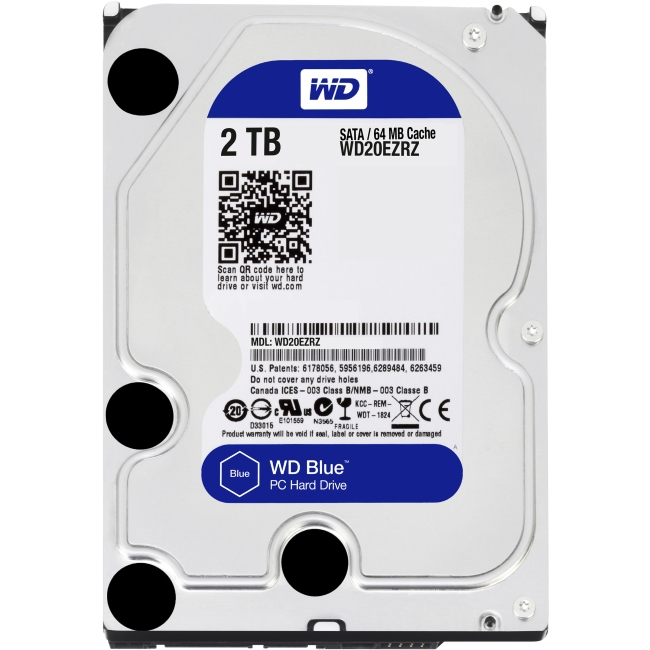 Western Digital Blue 2 TB 3.5-inch PC Hard Drive WD20EZRZ