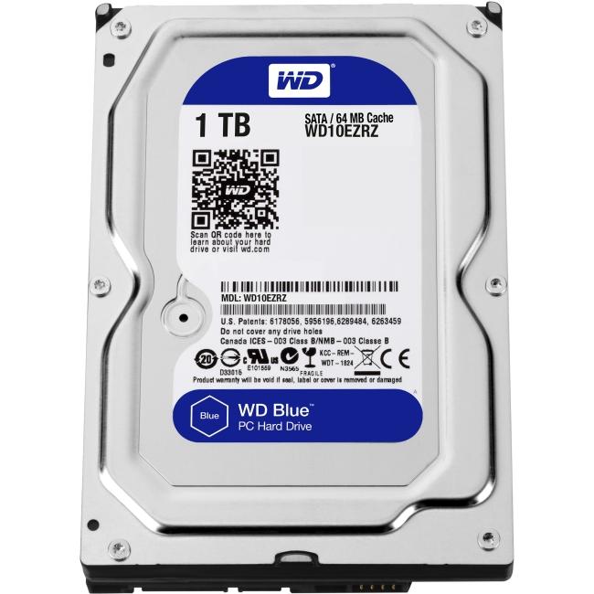 Western Digital Blue 1 TB 3.5-inch PC Hard Drive WD10EZRZ