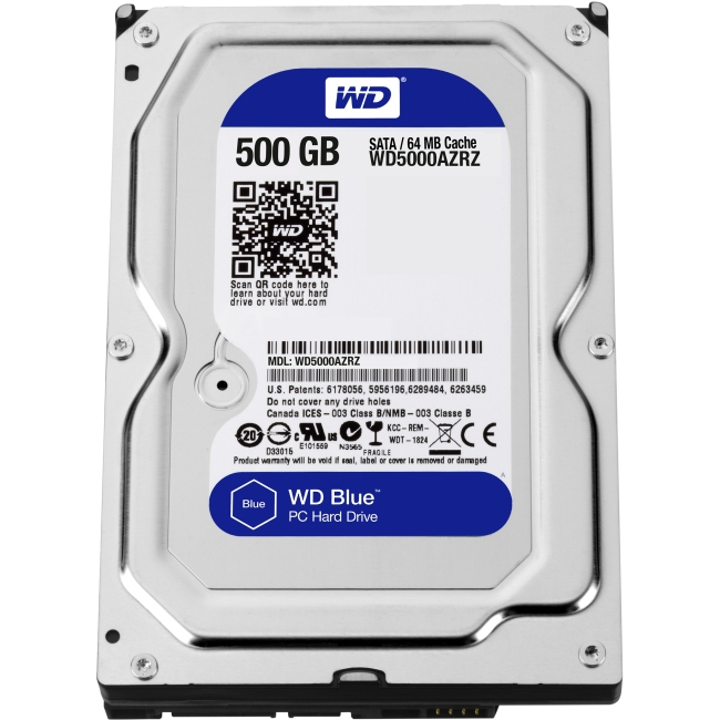 Western Digital Blue 500 GB 3.5-inch PC Hard Drive WD5000AZRZ