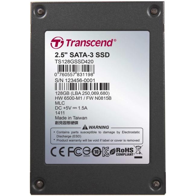 """Transcend 2.5"""" SATA III SSD TS128GSSD420I"""
