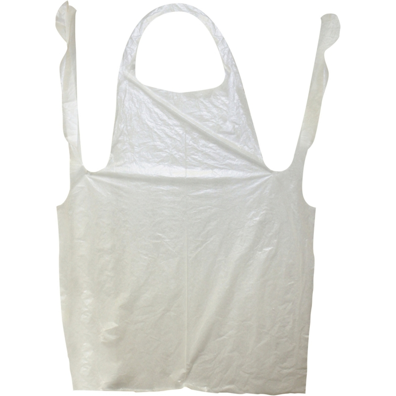 "Impact Products Disposable 46"" Polyethylene Apron 8707 IMP8707"