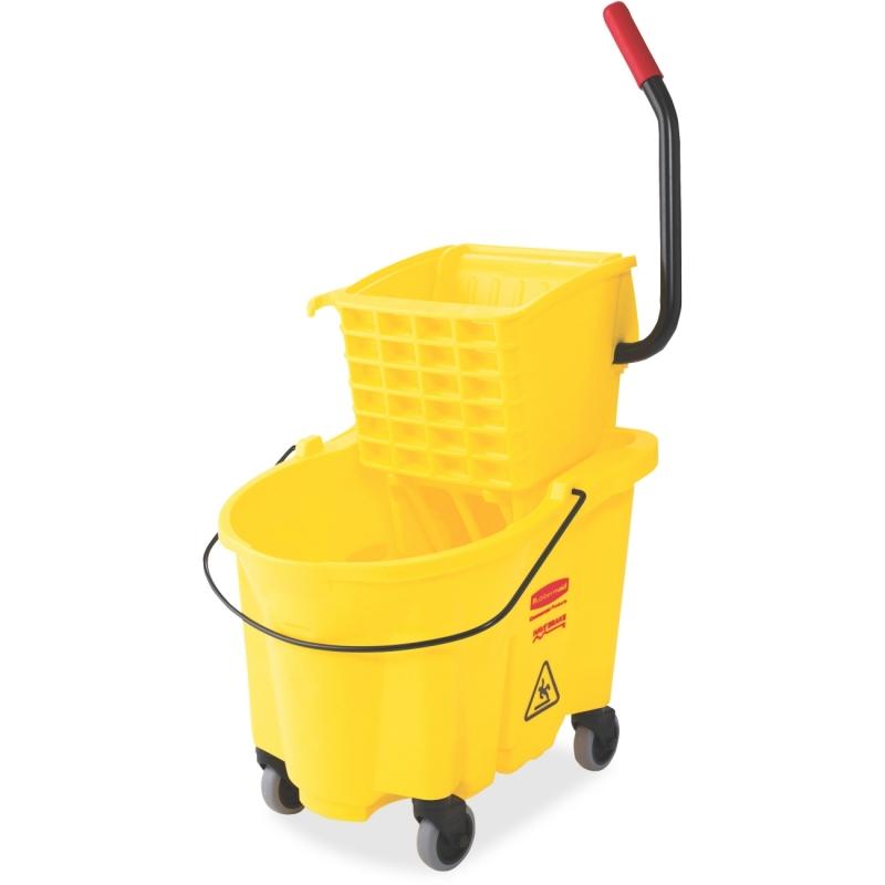 Rubbermaid Commercial WaveBrake Bucket/Wringer 7480YEL RCP7480YEL