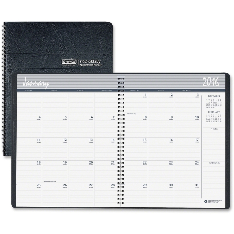 House of Doolittle Embossed Cover 14-month Mthly Planner 262602 HOD262602