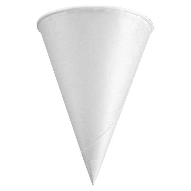 Konie 4.0 oz KR Rolled Rim Paper Cone Cup 40KR KCI40KR
