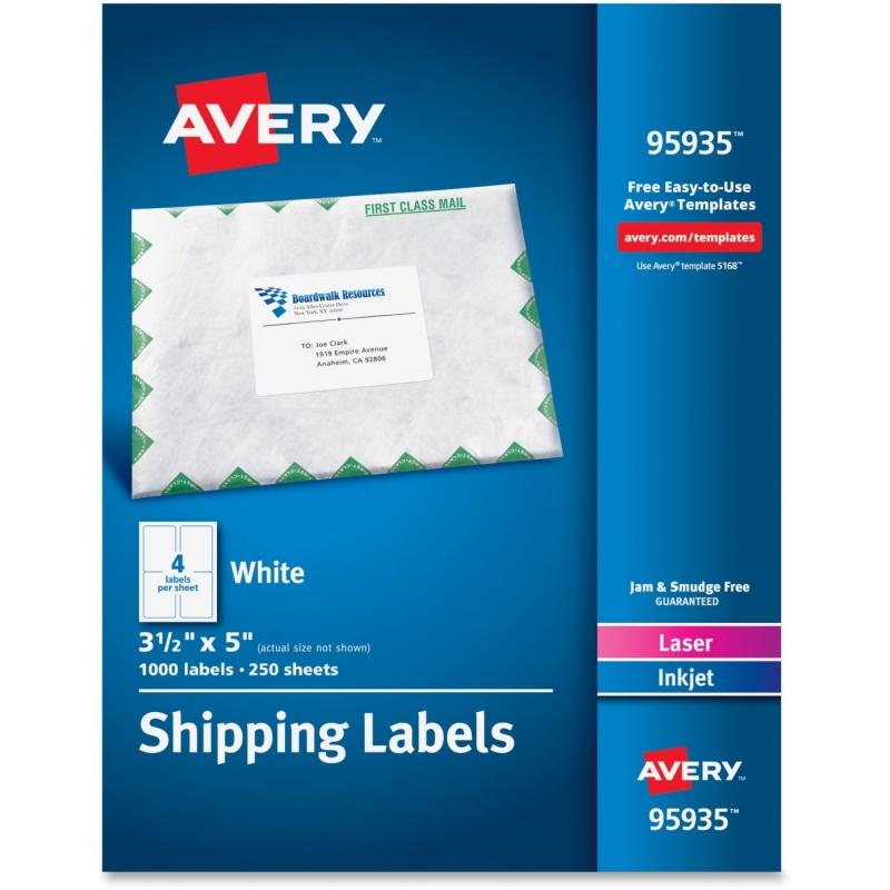 Avery Laser Inkjet Printer White Shipping Labels 95935 AVE95935