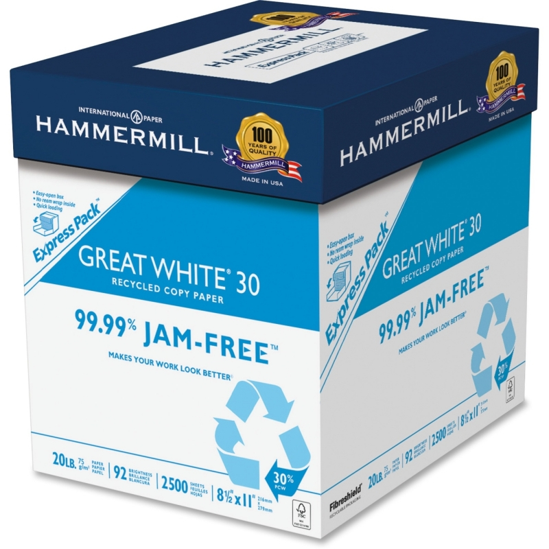 Hammermill Great White Recycled Copy Paper 67780 HAM67780