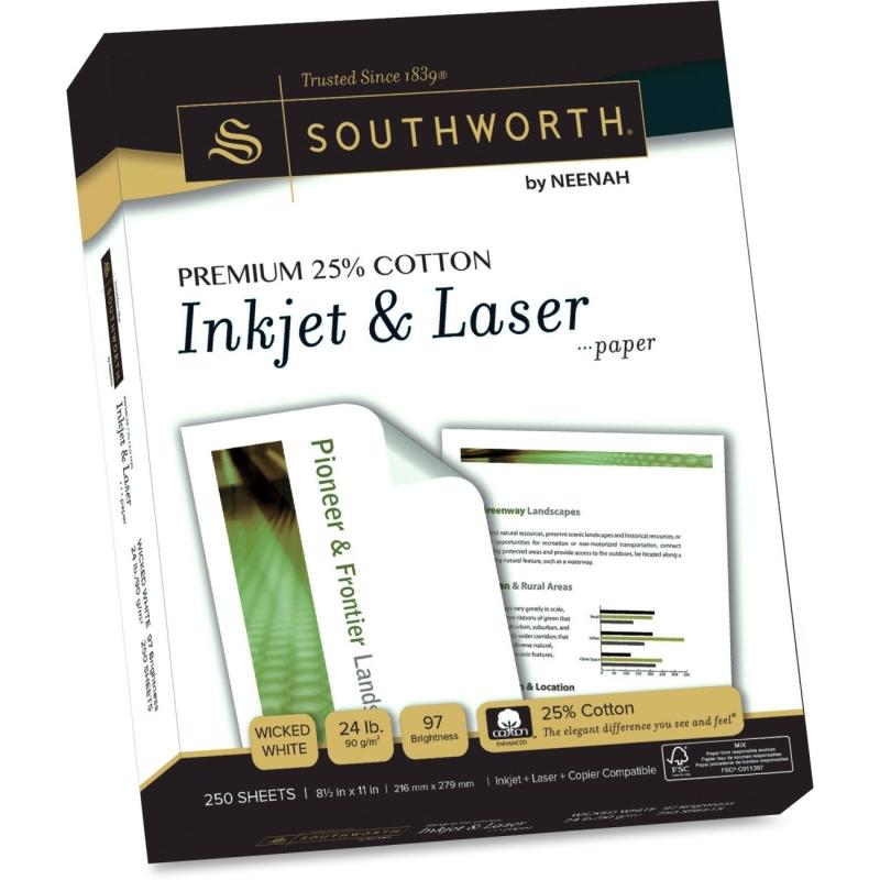 Southworth Premium Cotton Inkjet Laser Paper J344C SOUJ344C