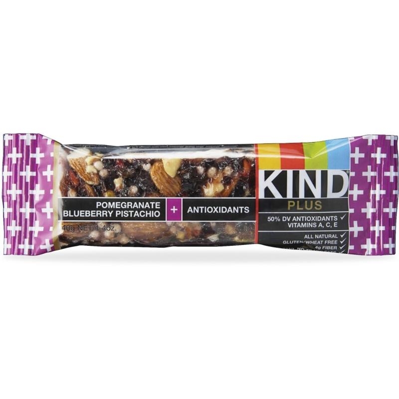KIND Pomegranate Blueberry Pistachio Plus Bar 17221 KND17221