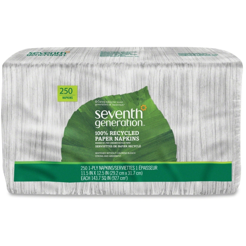 Seventh Generation 100% Recycled Napkins - White 13713CT SEV13713CT