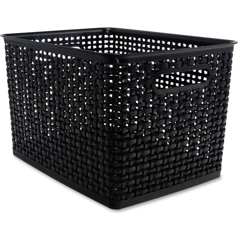 Advantus Plastic Weave Bin 40328 AVT40328