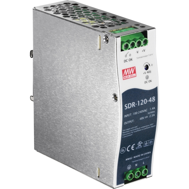 TRENDnet 120 W Single Output Industrial DIN-Rail Power Supply TI-S12048