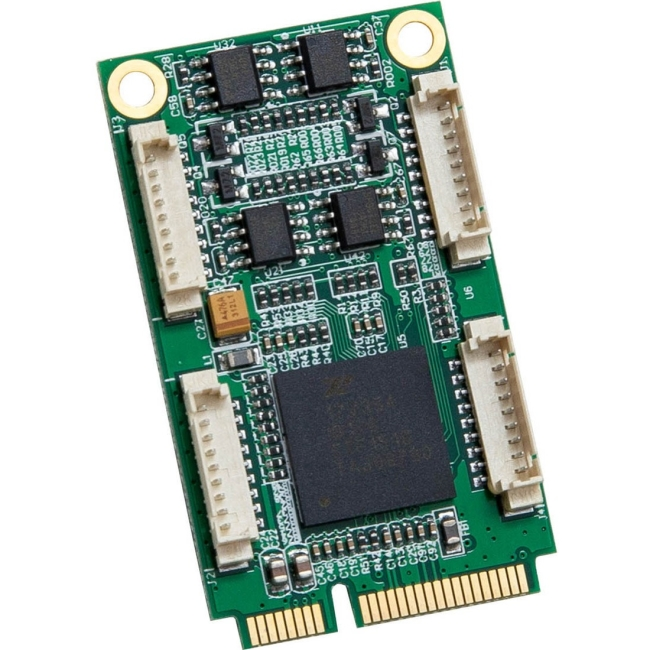 IO Crest 2/4 Port RS232 Industrial Mini PCI-E Serial Card SI-MPE15050