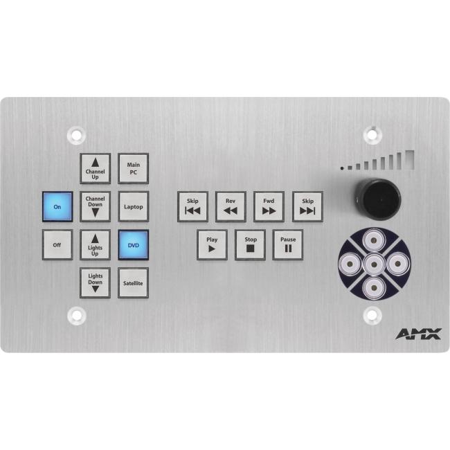 AMX 17-Button ControlPad, Navigation, Transport Controls (US) FG1302-17-4-SA CP-3017-TR-US