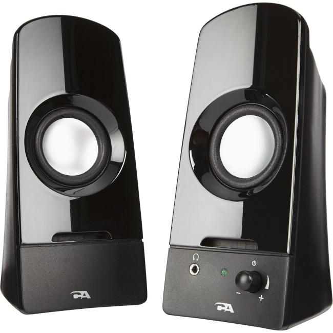 Cyber Acoustics 2.0 Powered Speaker System CA-2050 Sonic
