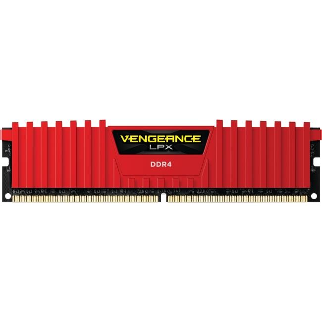 Corsair Vengeance LPX 32GB (4x8GB) DDR4 DRAM 2400MHz C14 Memory Kit - Red CMK32GX4M4A2400C14R