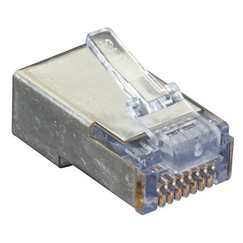 Black Box Shielded CAT5e EZ-RJ45 Modular Plugs, 100-Pack C5EEZSP-100PAK