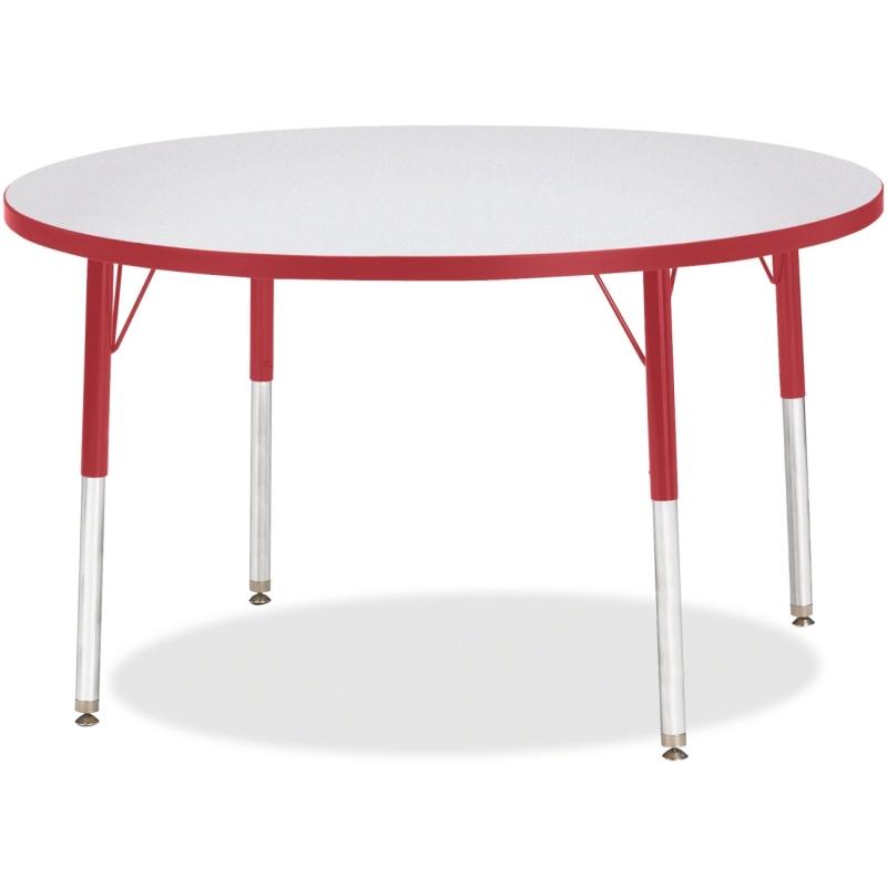 Berries Elem. Ht Gray Top Color Edge Rnd Table 6468JCE008 JNT6468JCE008