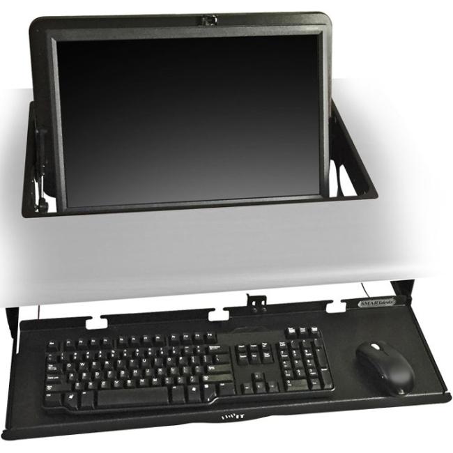 SMARTdesks flipIT Monitor Mount System DC-FIK-23-L-KIT-BL FIK-23