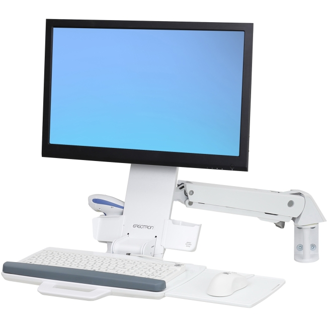 Ergotron StyleView Sit-Stand Combo Arm (White) 45-266-216
