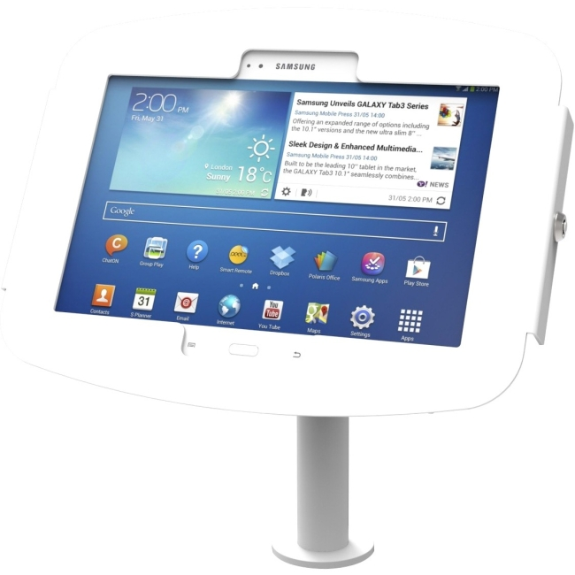 Compulocks The Pole Galaxy Tab Kiosk - Galaxy Tab Stand with Cable Management 920W400GEW