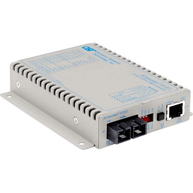Omnitron iConverter T1/E1 SC Multimode 5km Standalone US AC Powered 8702-0-D 8702-0-x