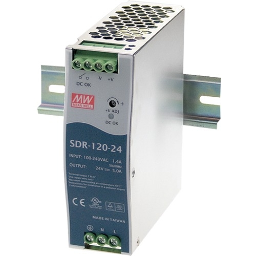 B+B 120W Single Output Industrial Din Rail With PFC Function SDR-120-24