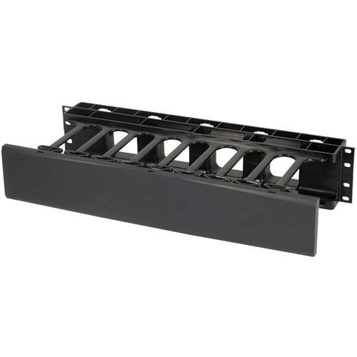 C2G 2U Single-Sided Horizontal Cable Management Panel 14597