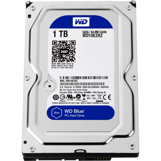Western Digital Blue Hard Drive WD10EZRZ-20PK
