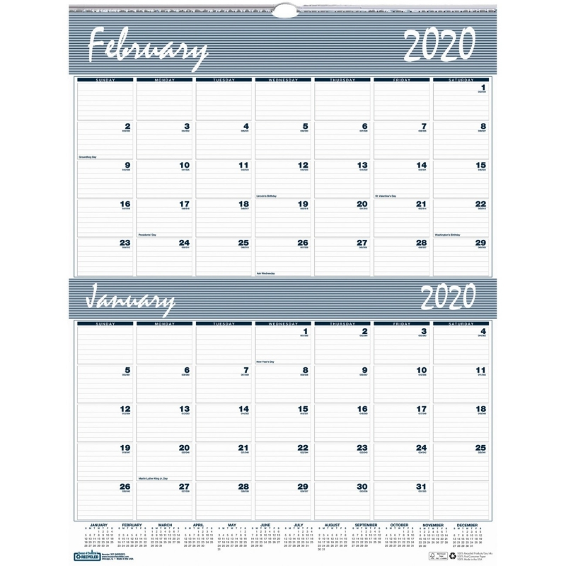 House of Doolittle Bar Harbor Blue/Gray 2-Month Wall Calendar 337 HOD337