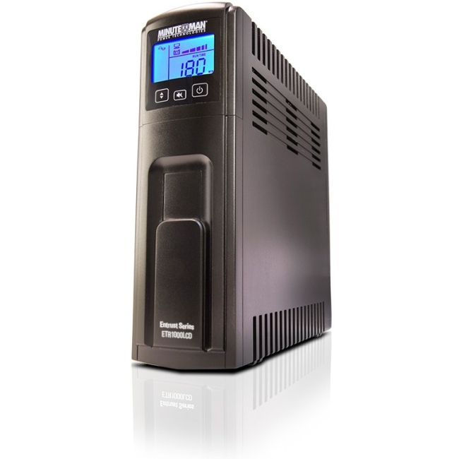 Minuteman 1000VA Line Interactive UPS with 10 Outlets ETR1000LCD