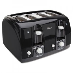 Sunbeam Extra Wide Slot Toaster, 4-Slice, 11 3/4 x 13 3/8 x 8 1/4, Black SUN39111